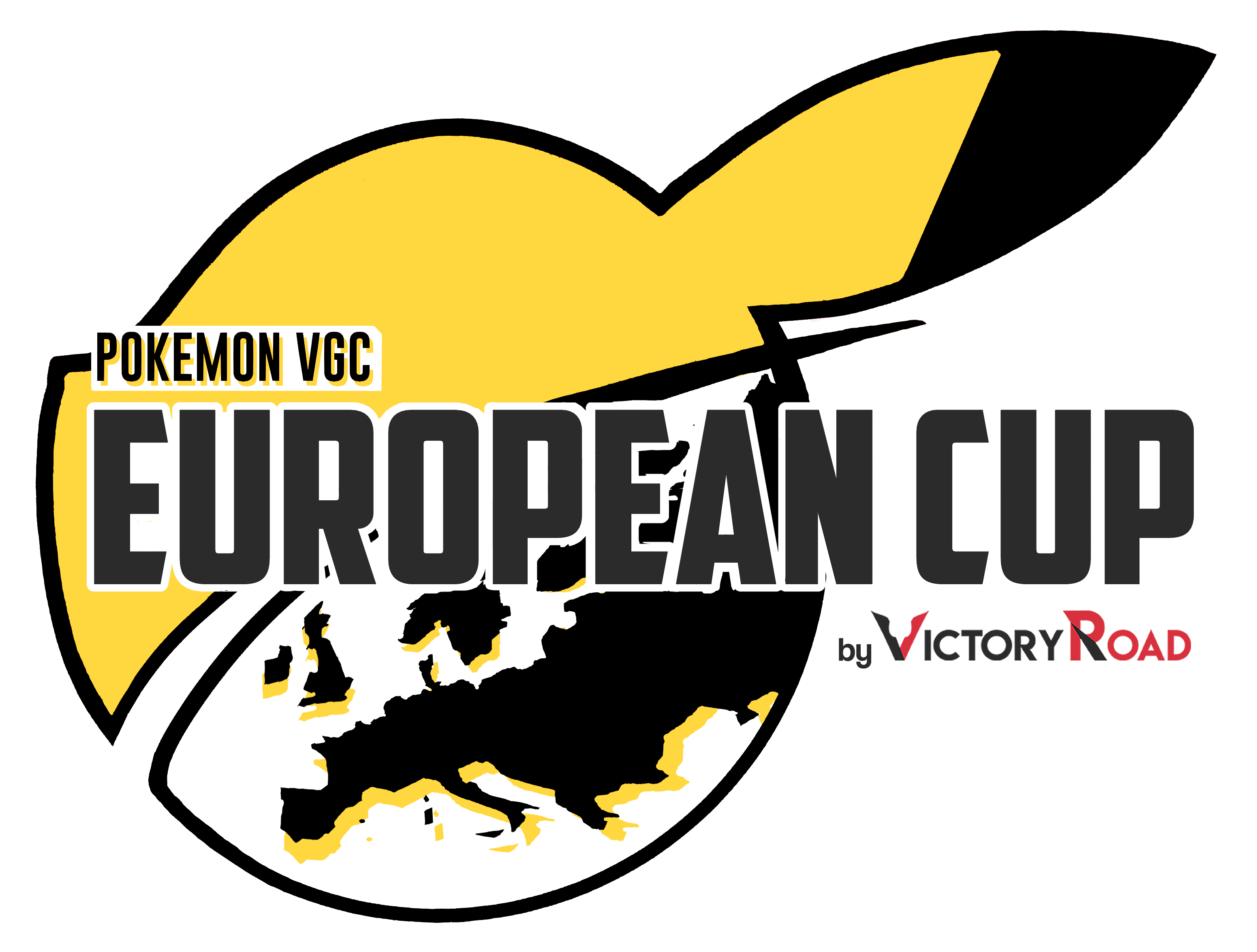 Logo European Cup - A Pikachu head with the Europe map
